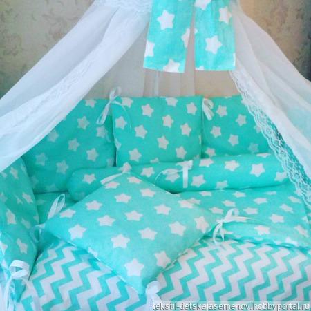 Комплект в кроватку №2 ручной работы на заказ