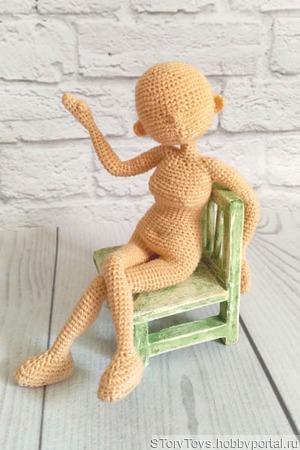 Мастер-класс Основа для куклы цельновязанная ручной работы на заказ