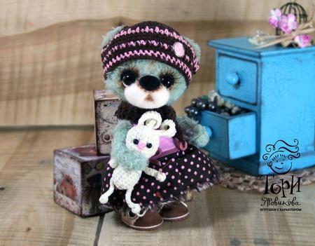 Мишка Бусинка ручной работы на заказ