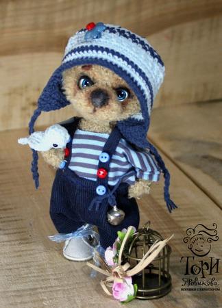 Мишка Антошка игрушка ручной работы на заказ
