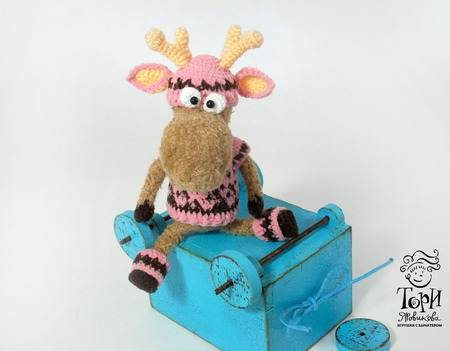 Северный олень Мастер-класс по вязанию крючком брелок-подвеска ручной работы на заказ