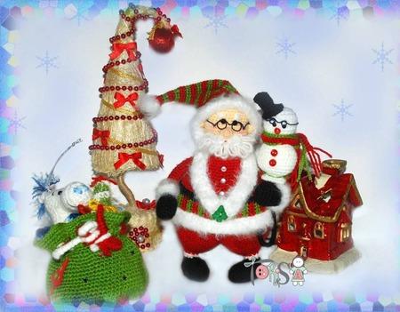 Мастер-класс Санта и учёный снеговик Клаус ручной работы на заказ