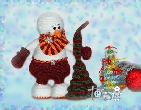 Мастер-класс Снеговик Гномус ручной работы на заказ
