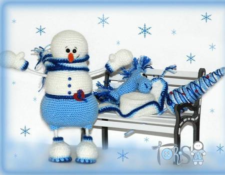 """Мастер-класс """"Снеговик Ерёмка"""" + елочка в подарок ручной работы на заказ"""