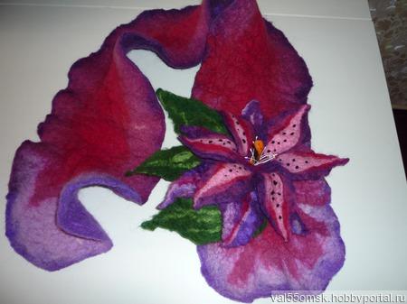 Валяный шарф из натуральной шерсти ручной работы на заказ