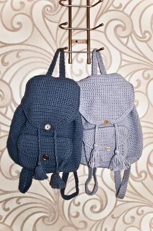 Вязаные рюкзаки на заказ ручной работы на заказ