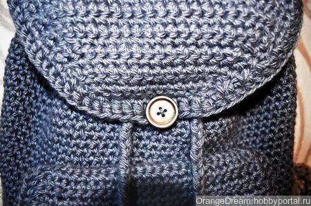 Серый вязаный рюкзак ручной работы ручной работы на заказ
