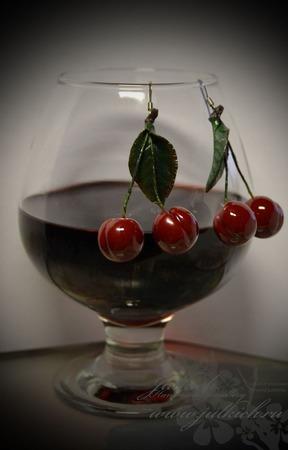 """Серьги """"Спелые вишни"""" ручной работы на заказ"""