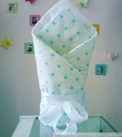 Одеяло на выписку (весна,холодное лето) ручной работы на заказ