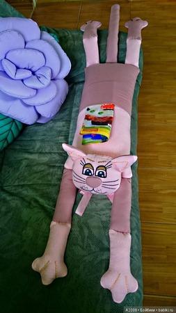 """Текстильная подушка""""Кот"""" ручной работы на заказ"""