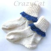 Носочки из шерсти с ажурной каймой
