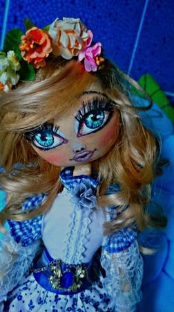 """Интерьерная авторская кукла """"Есения"""" ручной работы на заказ"""