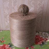 Пряжа джутовая . тонкая для вязания скатертей. штор . кружева