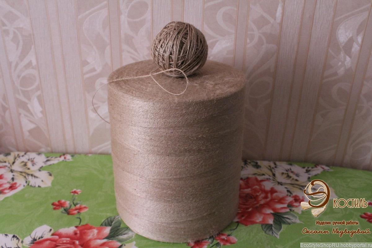 пряжа джутовая тонкая для вязания скатертей штор кружева