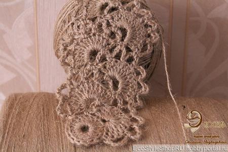 Пряжа джутовая . тонкая для вязания скатертей. штор . кружева ручной работы на заказ