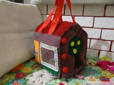 Сумка- домик ручной работы на заказ