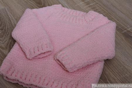 Детский плюшевый свитер ручной работы на заказ