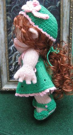 Кукла вязаная малышка ручной работы на заказ