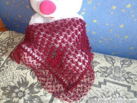Мини-шаль с бисером ручной работы на заказ