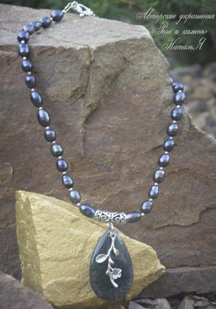 """Ожерелье """"Жемчужина моря"""" ручной работы на заказ"""