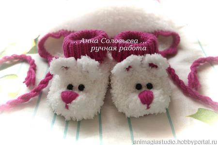 Пинетки-мишки ручной работы на заказ