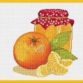 """Авторская схема для вышивания """"Апельсиновое варенье"""""""