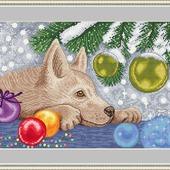 """Авторская схема для вышивания """"Новогодний подарок"""""""