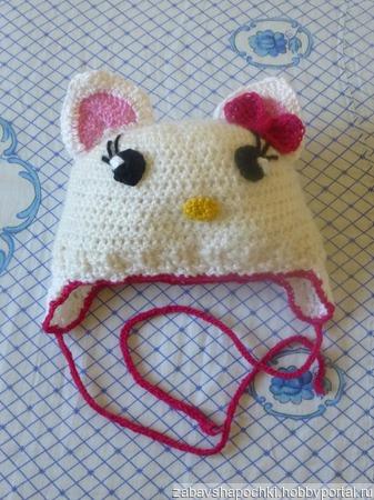 Шапочка Hello Kitty ручной работы на заказ