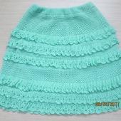 фото: Юбки — одежда (летняя юбка крючком)