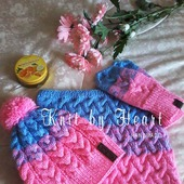Вязаный комплект шапка, снуд и варежки детский Knit by Heart