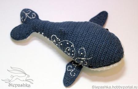 Синий кит Алан ручной работы на заказ