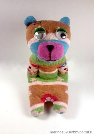 """Игрушка из носков """"Медвежонок"""" ручной работы на заказ"""