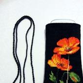 Вышитая чехол-сумочка для телефона