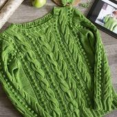 Вязаный свитер из хлопка