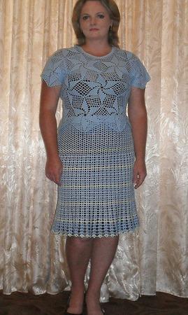 "Вязаная юбка ""Летняя"" ручной работы на заказ"