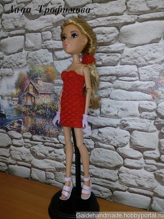 Алое платье на МС2 проект ручной работы на заказ