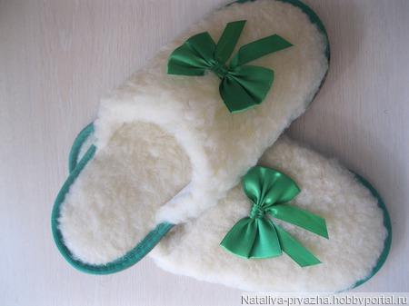 Тапочки из овечьей шерсти ручной работы на заказ