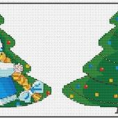 Авторская схема для вышивки крестом.Игрушка Снегурочка