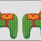 """Авторская схема для вышивки крестом """"Лошадка"""""""