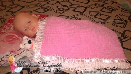 Плед для новорожденной ручной работы на заказ