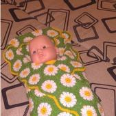 Плед для новорожденной