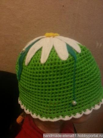 Летняя шапочка для девочки ручной работы на заказ
