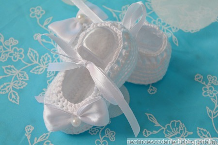 """Пинетки для девочки """" Балеринка"""" Пинетки для новорожденной ручной работы на заказ"""