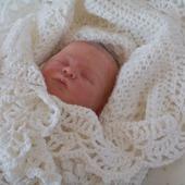 Детский плед. Вязанный плед для новорожденных.