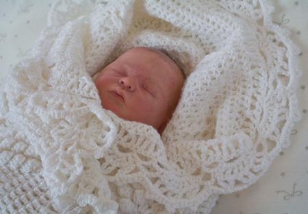 Детский плед. Вязанный плед для новорожденных. ручной работы на заказ