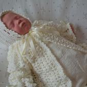 Комплект на выписку для новорожденного комбинезон,жакет,шапочка