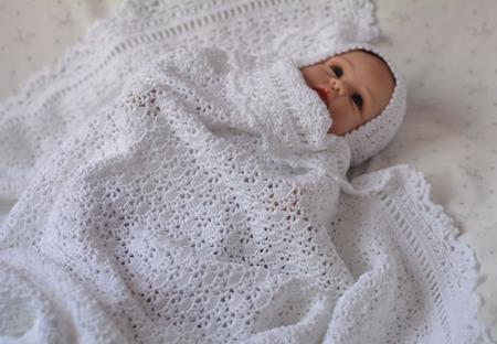 Плед для новорожденного. Вязанный плед крючком. плед на выписку купить. ручной работы на заказ