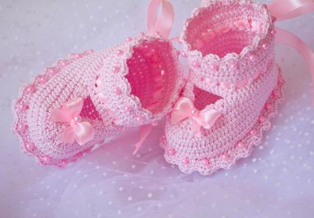 """Пинетки  """"Розовые мечты"""" ручной работы на заказ"""