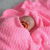 """Плед-одеяло  для новорожденного """"Сладкие сны"""" розовый"""