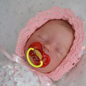 Шапочка - чепчик для новорожденного